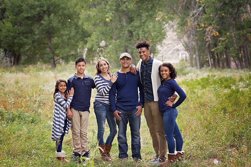 Family with older children. Family portraits by Pueblo family photographer K.D. Elise Photography.