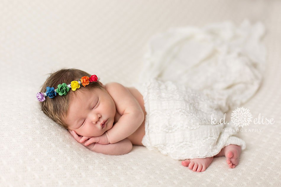 Rainbow baby newborn photos by colorado springs newborn photographer k d elise photography