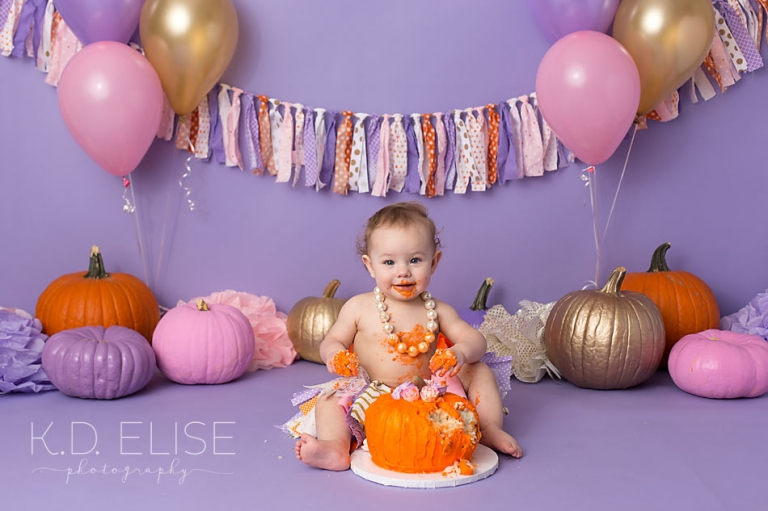 Stupendous Pumpkin Themed Cake Smash Pueblo Colorado Springs Newborn Personalised Birthday Cards Beptaeletsinfo